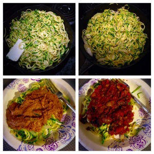 Zoodles with 2 Sauces