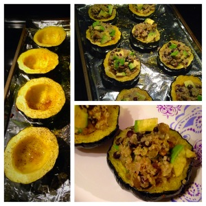 Avocado and Quinoa Stuffed Acorn Squash