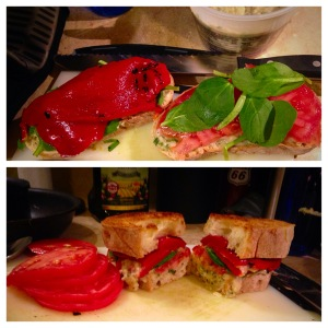 Roasted Red Pepper and Cannellini Sandwich
